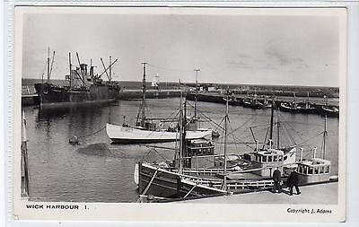 WICK HARBOUR: Caithness postcard (C21831)