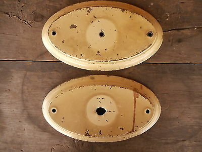Pair Vintage Shabby Architectural Salvage ceiling light fixture Part AS IS