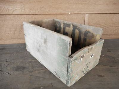 Primitive Box Small handmade Antique Wooden Wood Table Decor Farm Country Chippy