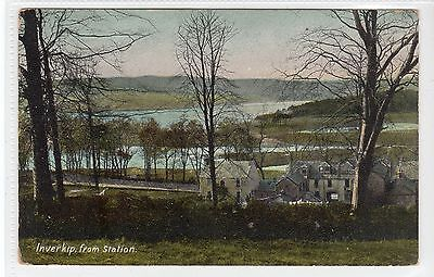 INVERKIP FROM STATION: Renfrewshire postcard (C21991)