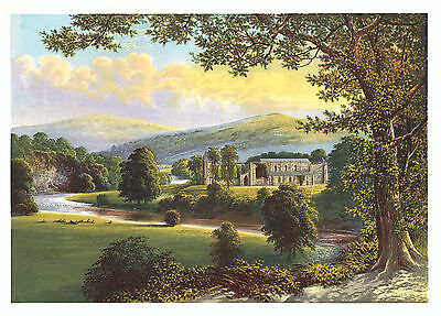 Bolton Priory, Wharfedale, North Yorkshire (Augustinian) By A. F. Lydon - c1880