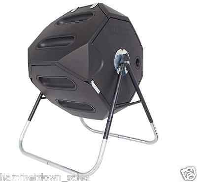ROTATING COMPOST TUMBLER 246 Litre Soil Composter Barrel Recycle Grass & Waste