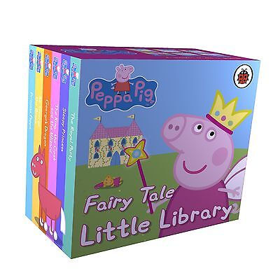 PEPPA PIG FAIRY TALE LITTLE LIBRARY Nick Jnr Cbeebies Board Book Stories NEW!