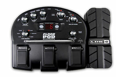 Line 6 Floor Pod Guitar Multi Effects Pedal & Power Supply