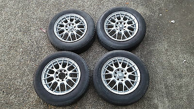 Speedy Hyperfang style alloy wheels with tyres - 14 inch - 4 stud multi pattern