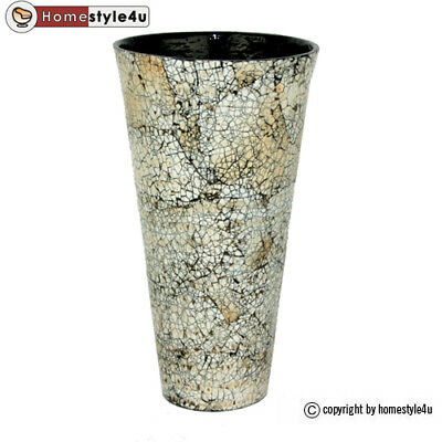 luxus glasvase vase glas vase silber wei braun designer deko blumenvase eur 19 90 picclick de. Black Bedroom Furniture Sets. Home Design Ideas