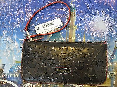 Dooney & and Bourke Star Wars Wristlet Full Leather Black Disney IN HAND Darth