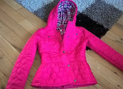 Girls pink  jacket age 10 to 11 blue zoo