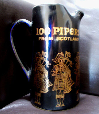 Seagram's 100 Pipers From Scotland Scotch Wiskey Ceramic Pitcher