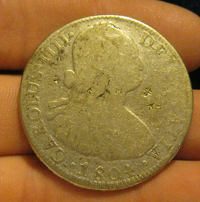 Mexico - 1804 MoTH Large Silver 8 Reales