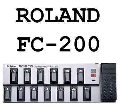 Roland Fc-200 Midi Foot Controller Pedal 300 & Power Supply
