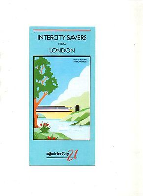 Intercity Savers From London Leaflet 1987
