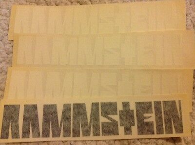 Rammstein Band Logo 4 die cut stickers    Free Shipping