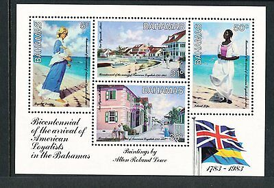 Bahamas 1983 Bicent of Arrival of American Loyalists in the Bahamas  MS