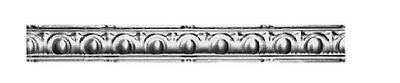 "Authentic Design #c-1 Metal Ceiling Cornice 4.75"" In X 49 In 30 Ga. Nr $13."