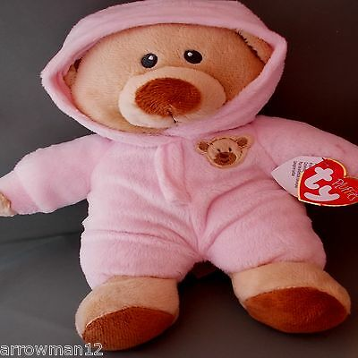 BABY BEAR PINK PJ BEAR 2016 ***TY PLUFFIE*** Style 32129 approx 9""