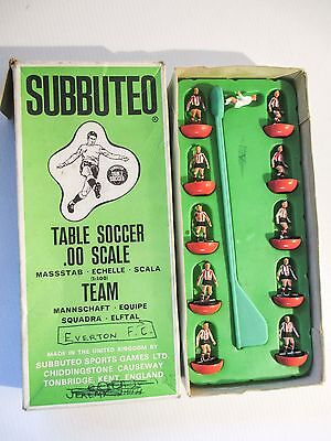 SUBBUTEO TABLE SOCCER 00 SCALE C100 FOOTBALL TEAM Red & white shirt black shorts
