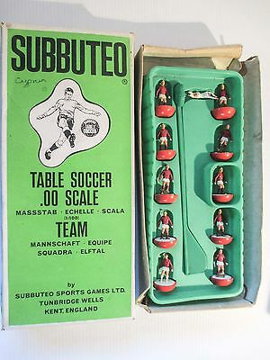 SUBBUTEO TABLE SOCCER 00 SCALE C100 FOOTBALL TEAM red & white