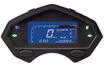 Motorcycle motor bike LCD digital speedometer odometer