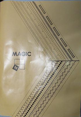 Singer magic 14 sewing machine instruction handbook