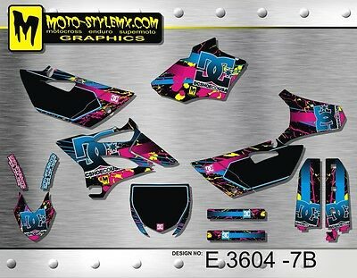 Yamaha YZ 85 2015 up to 2016 graphics decals kit Moto StyleMX