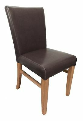 Pair of Jacob Bonded Leather Brown Dining Chair