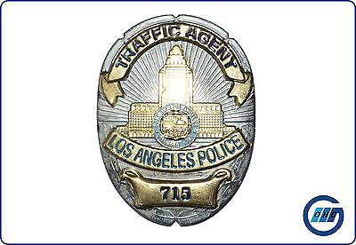 USA: Abzeichen Badge Metallabzeichen LAPD Traffic Agent (Replik) #26