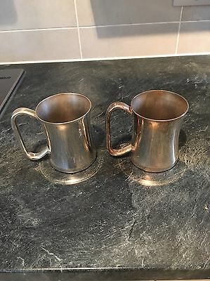 Silver Plated Pint Tankards