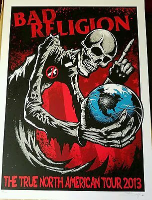 BAD RELIGION TRUE NORTH S/N POSTER. Social Distortion,  NOFX