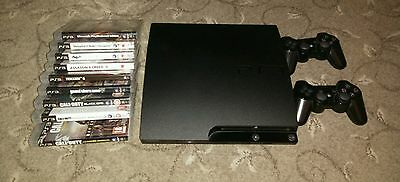 ps3 + 2 controllers and 9 games