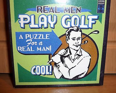 """Novelty Golf Puzzle """"Real Men Play Golf""""~ Ideal Gift Or Prize ~ Slightly Used"""