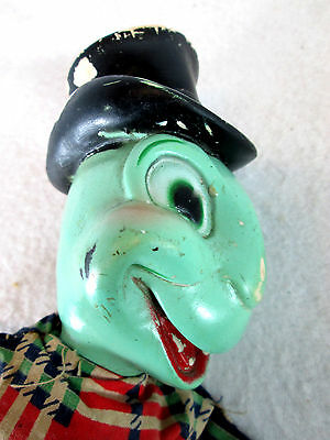 Vintage 1950s Walt Disney Productions Jiminy Cricket hand puppet by Gund