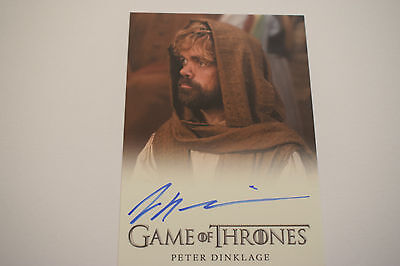 Game of Thrones Season 5 Peter Dinklage as Tyrion Lannister Auto Card