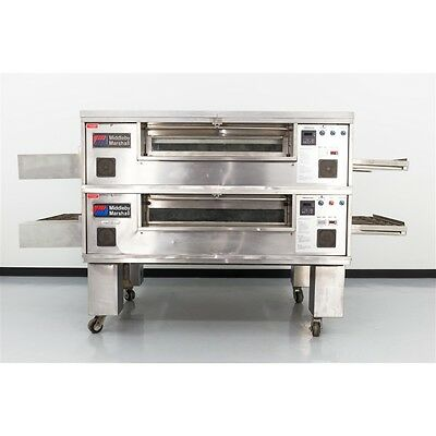 "Reconditioned Middleby Marshall PS570 32"" Double Deck Gas Conveyor Pizza Oven"