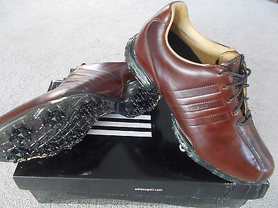Mens Golf Shoes Adidas Adipure Z Brown Waterproof Uk 7 Eu 40 2/3 Leather Rrp£150