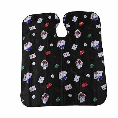 Pro Salon Barber Hair Cut Hairdressing Coloring Poker Pattern Gown Cloth Cape DT