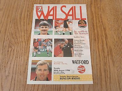 Walsall v Watford,coca cola cup,Aug 1996.