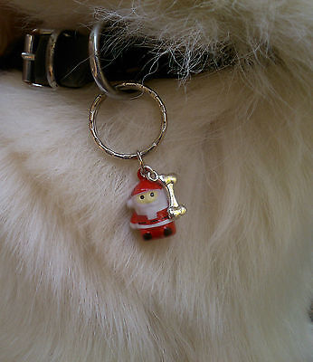 Christmas Jingletastic  Collar Jingles For Cats & Dogs Split Ring Or Clip Clasp