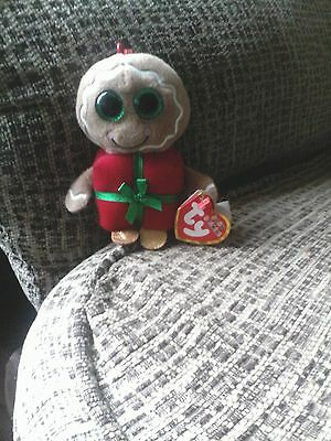 NEW Ty Beanie Baby Sweetsy Gingerbread Christmas Keyring Stocking Filler Gift