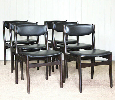 Set of 6 Vintage Retro Danish Dining Chairs Mid Century G-Plan