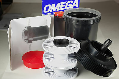 New Omega Universal Film Developing Tank w/2 Adjustable Reels/Box/Instructions