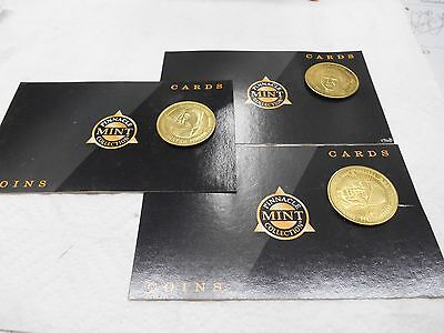 Pinnacle Mint Collection Coin Cards Set Of Three