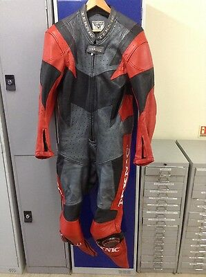 technik mens leather motorcycle suit size UK44