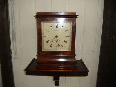 English 5 Glass Fusee  Bracket Clock