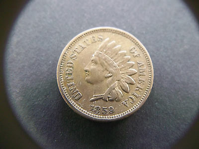 1859 CN Indian Head Cent High Grade VF-XF *Free Shipping*