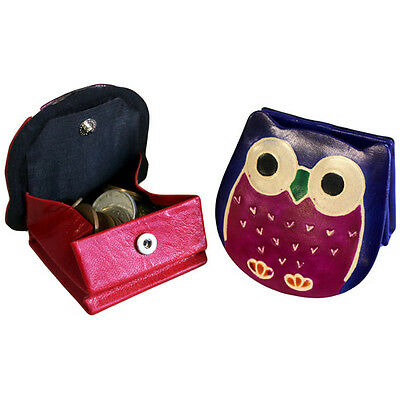 Cute Owl Leather Purses (Opens up to hold coins)