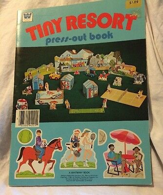 Vintage Whitman TINY RESORT Press Out Book 1981 New Unused
