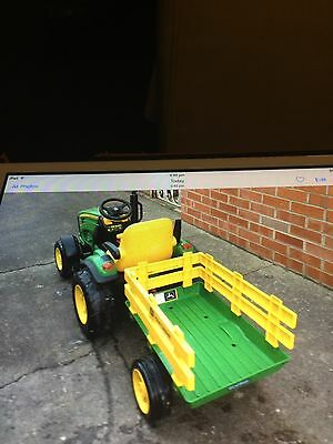 Battery Operated John Deere Tractor And Trailer