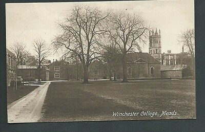 """WINCHESTER COLLEGE, MEADS""  Vintage Postcard HAMPSHIRE"