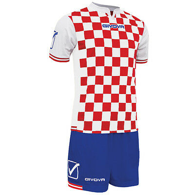 Givova Competition FULL Football Team Club Kit White/Red/Blue
